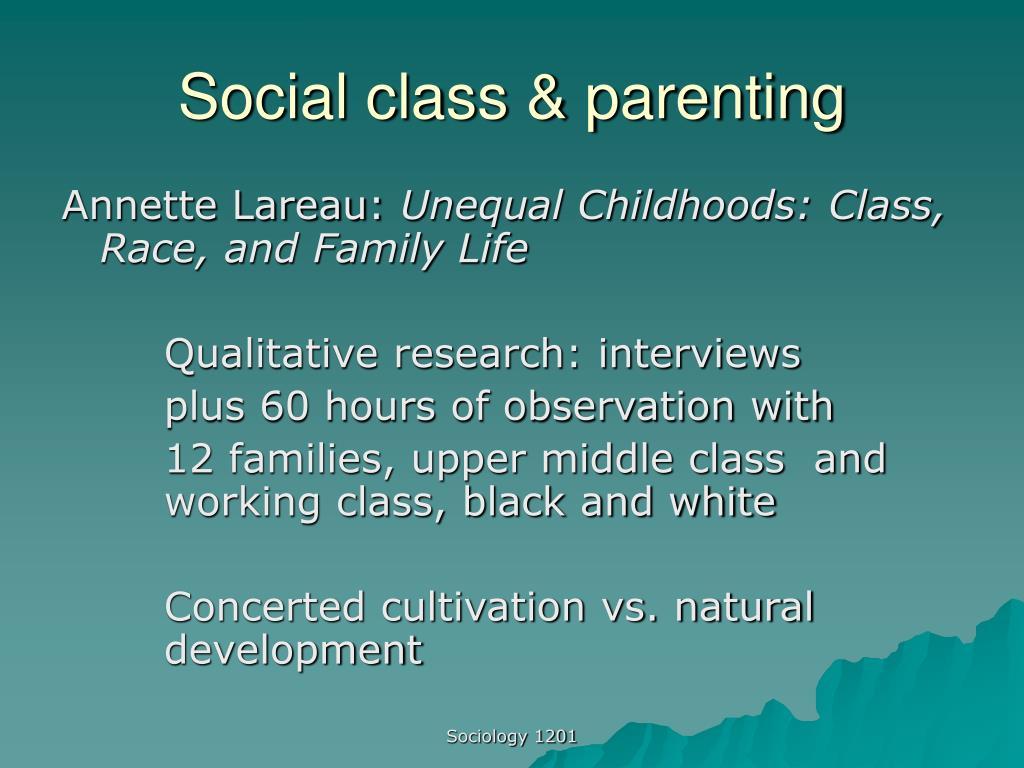 Social class & parenting