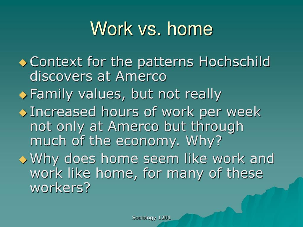 Work vs. home