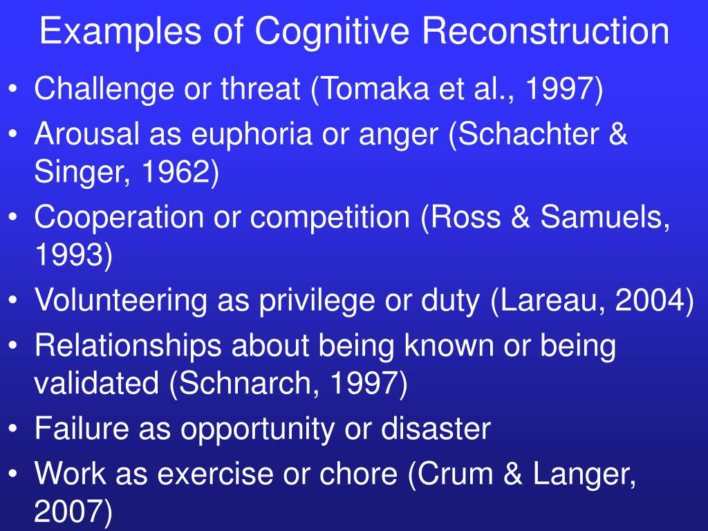 Examples of Cognitive Reconstruction