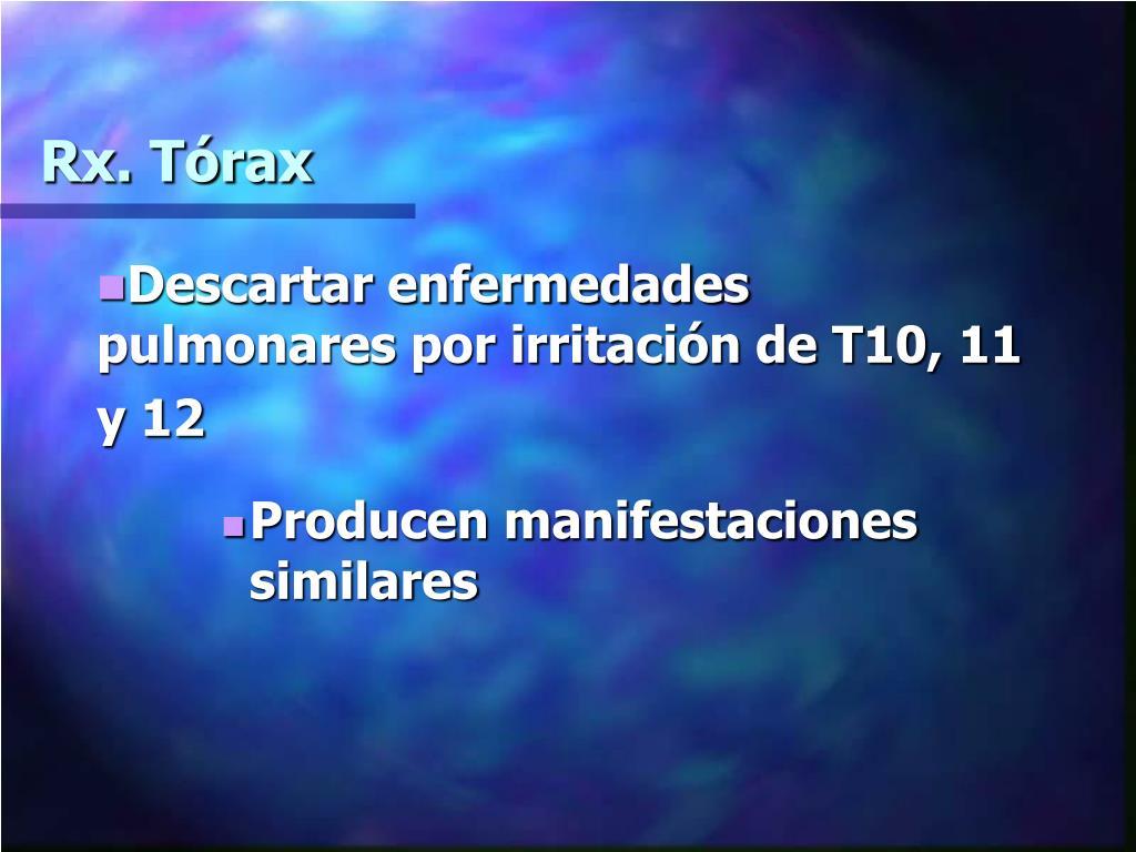 Rx. Tórax