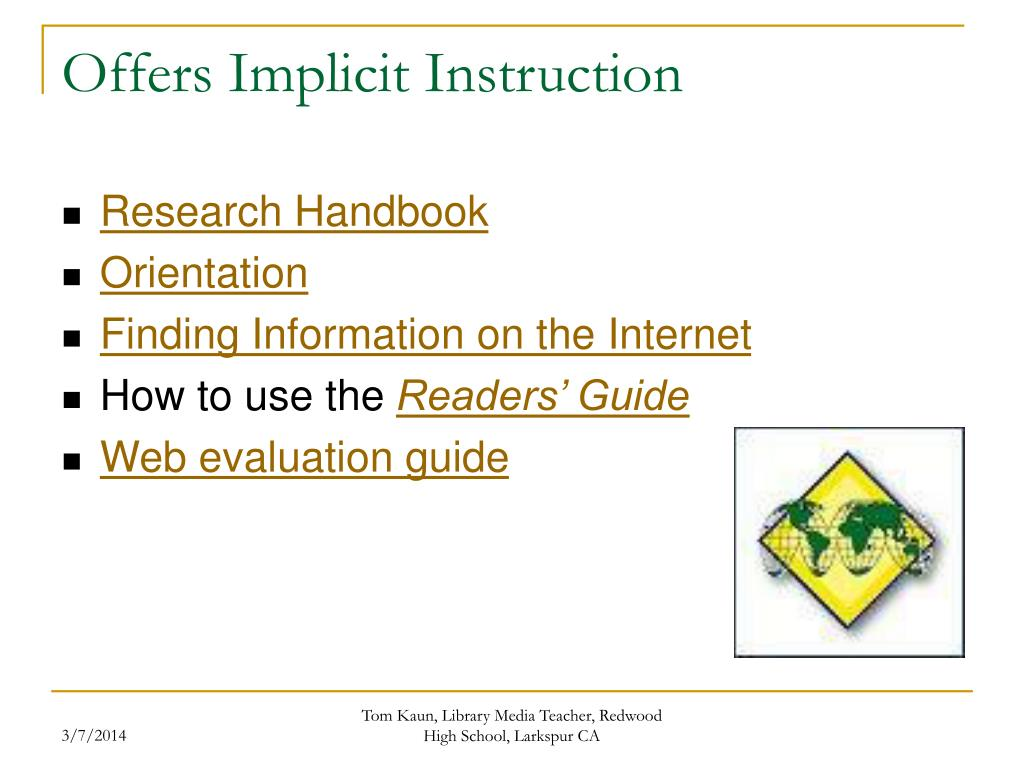 Offers Implicit Instruction