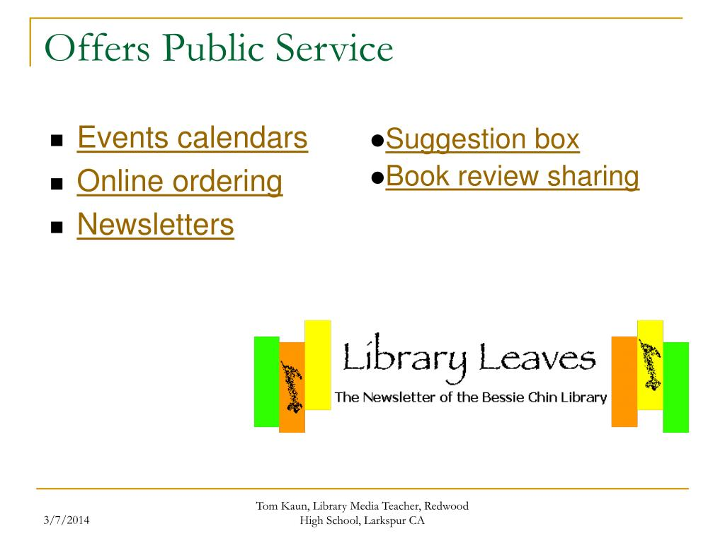 Offers Public Service