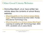 other good criteria websites