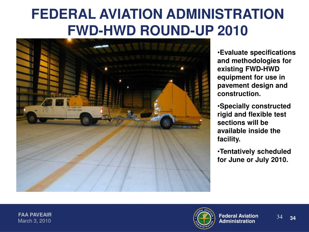 FEDERAL AVIATION ADMINISTRATION FWD-HWD ROUND-UP 2010