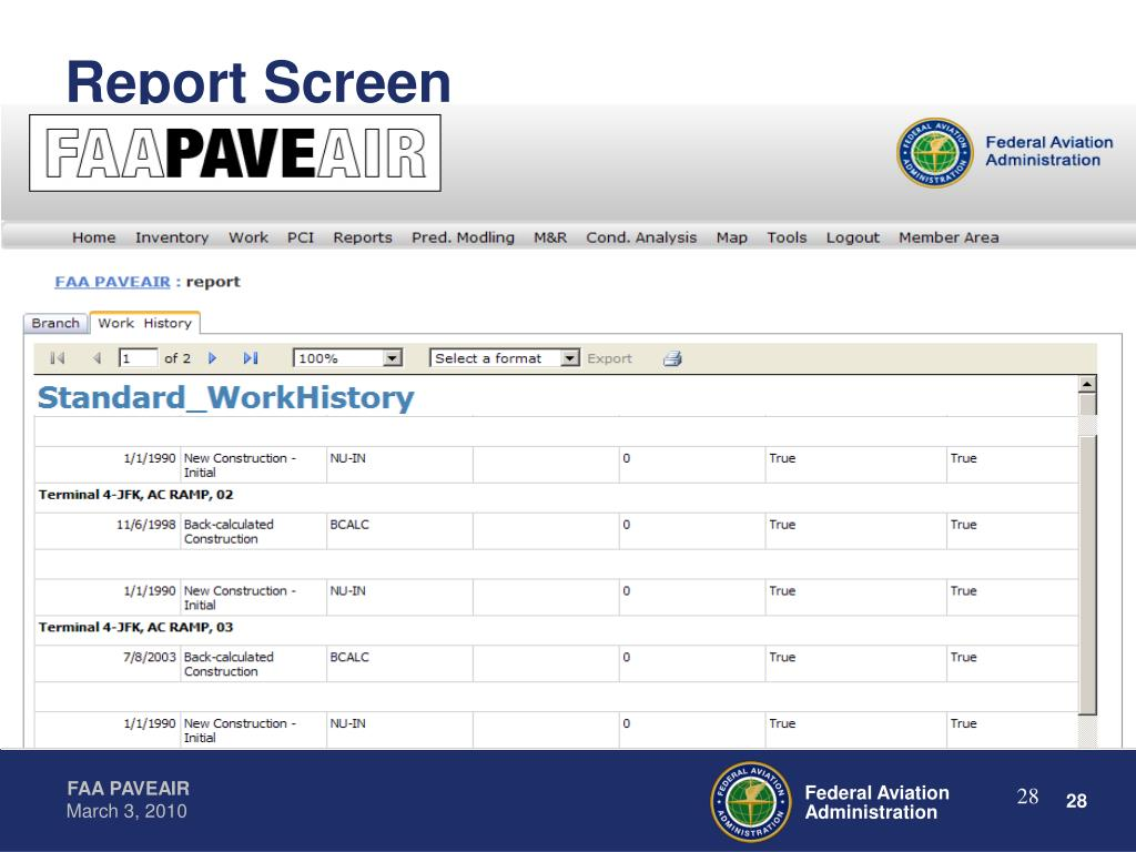 Report Screen