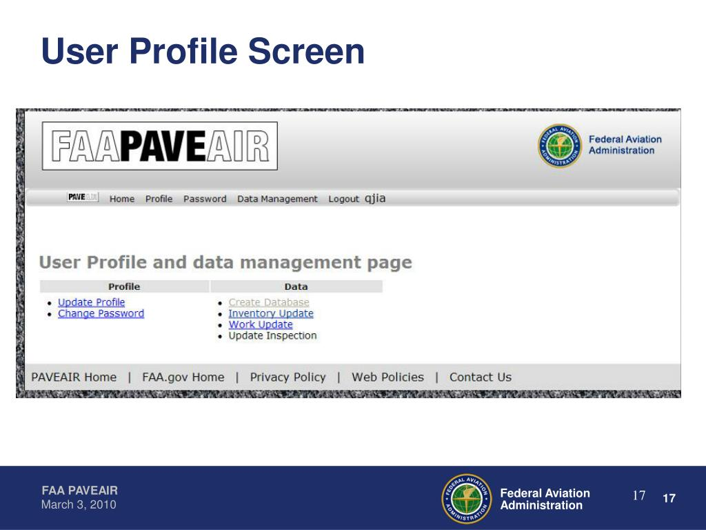 User Profile Screen