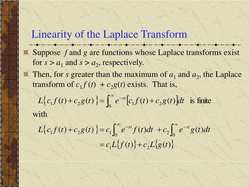 Linearity of the Laplace Transform