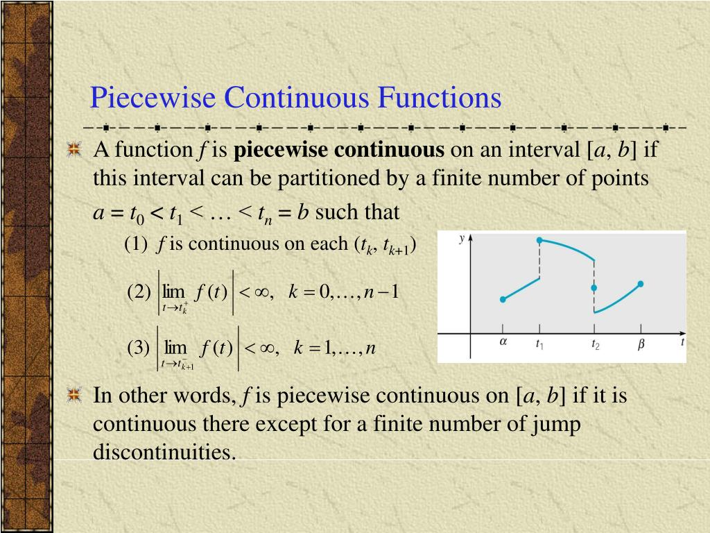 Piecewise Continuous Functions