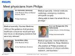 meet physicians from philips6