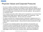 physician values and corporate pressures26