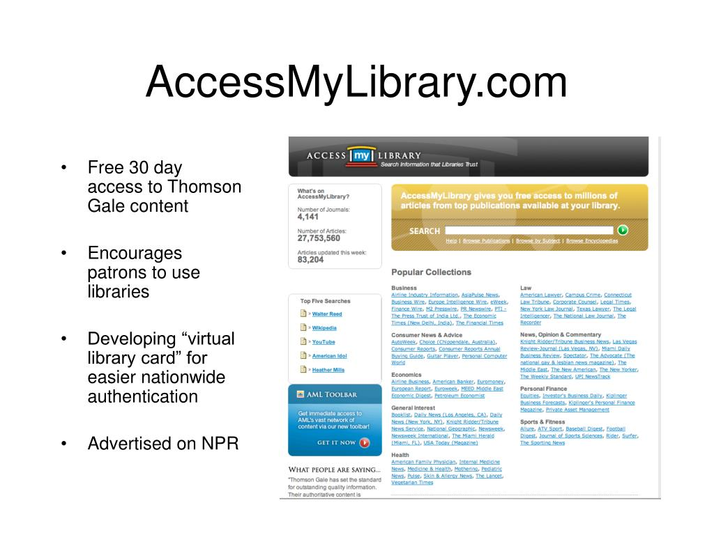 AccessMyLibrary.com