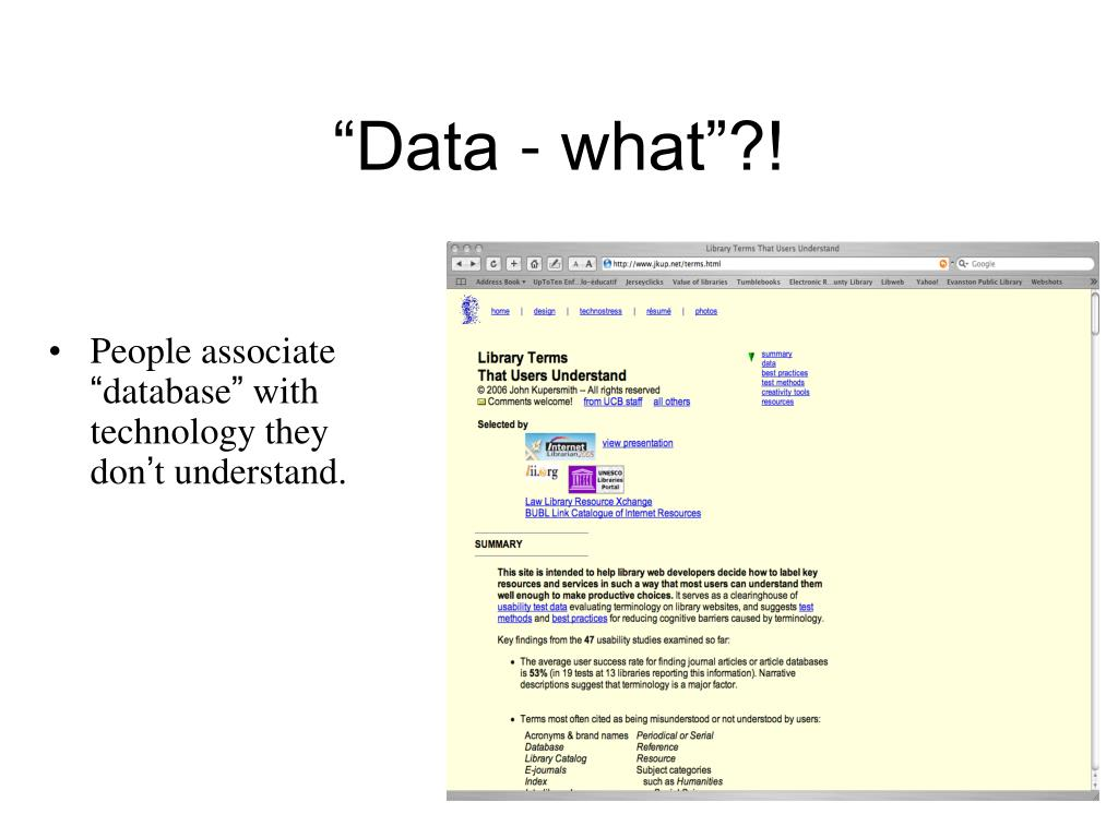 """Data - what""?!"