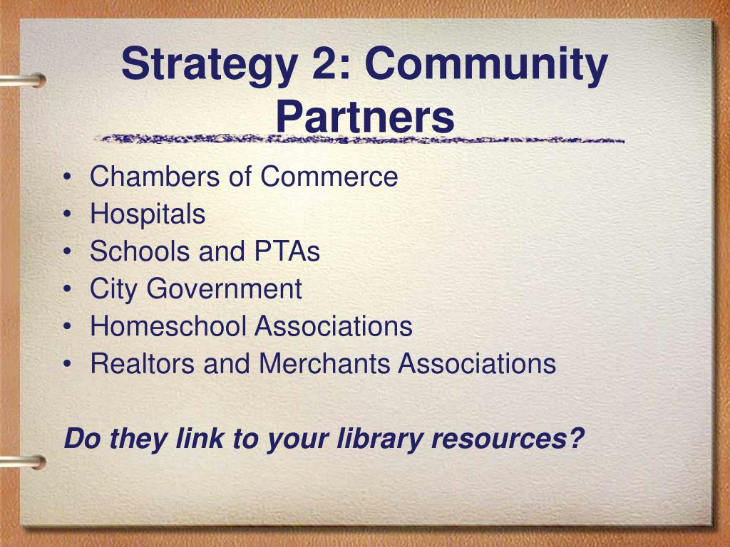 Strategy 2: Community Partners