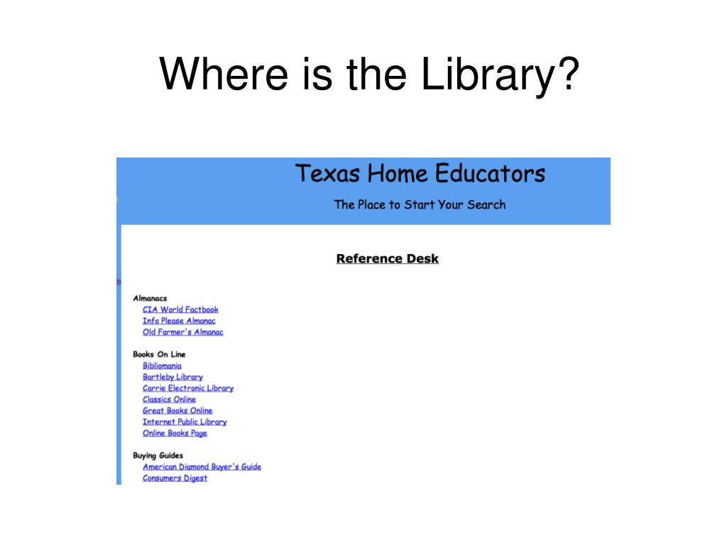 Where is the Library?