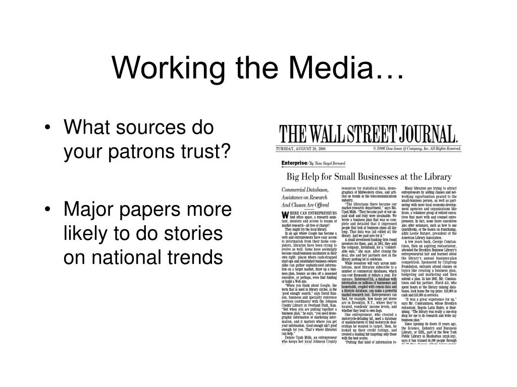 Working the Media…