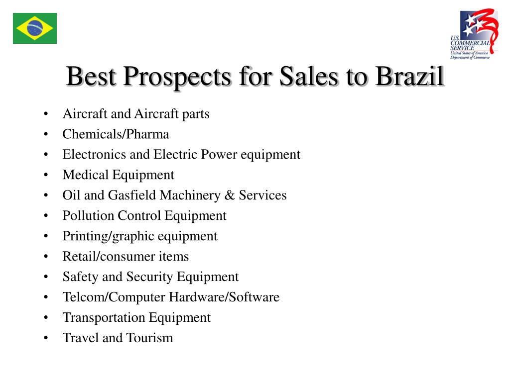 Best Prospects for Sales to Brazil