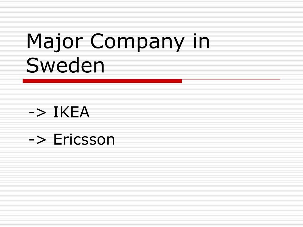 Major Company in Sweden