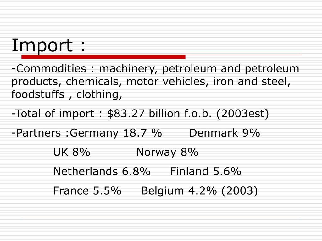 Import :