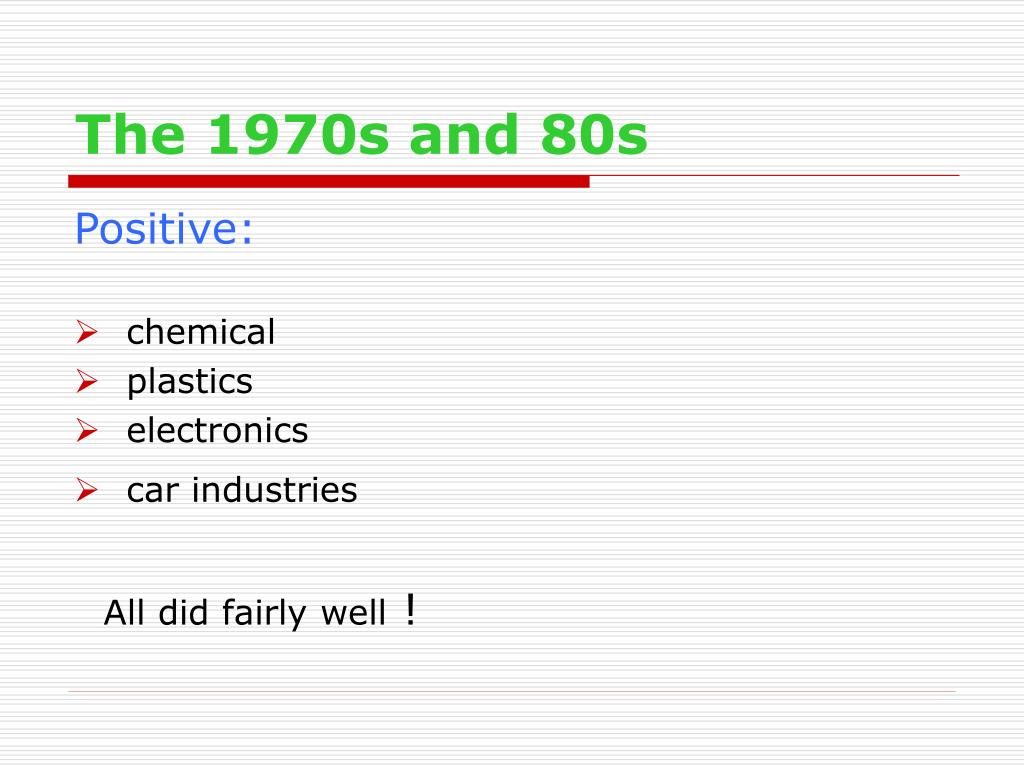 The 1970s and 80s