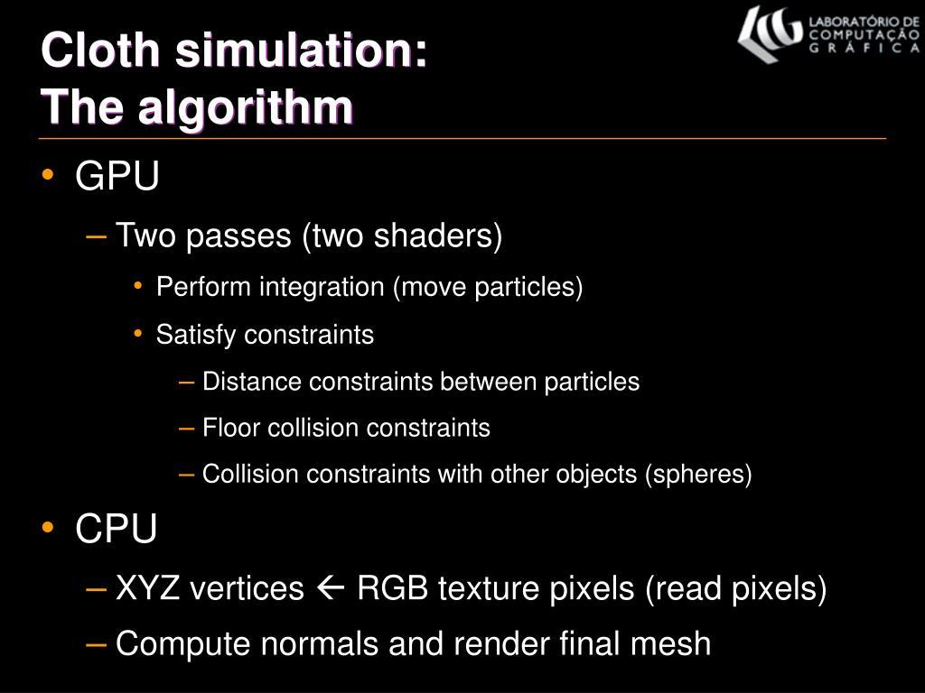 Cloth simulation: