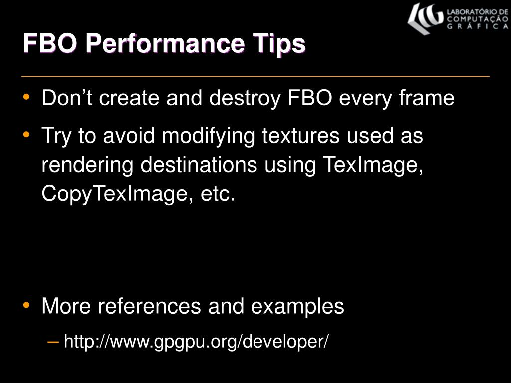 FBO Performance Tips