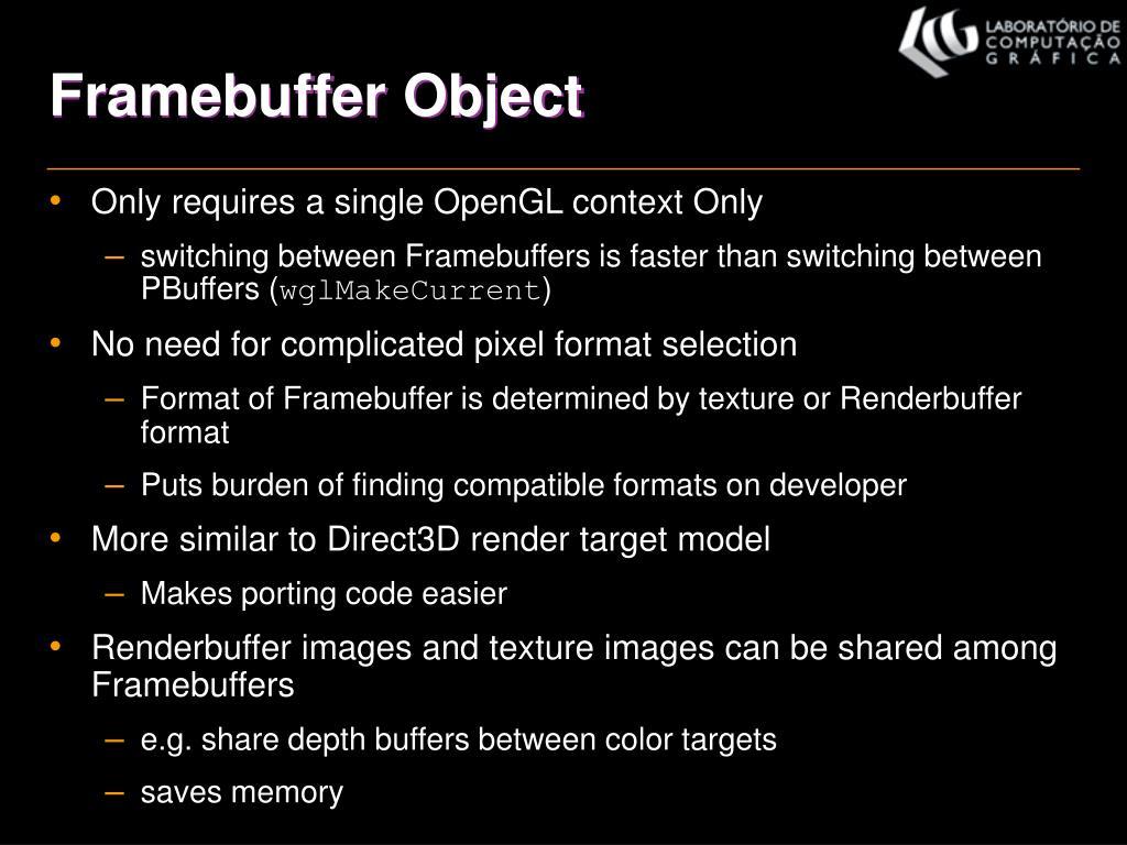 Framebuffer Object
