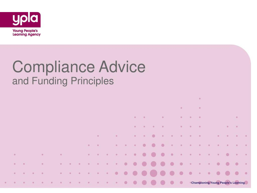 Compliance Advice