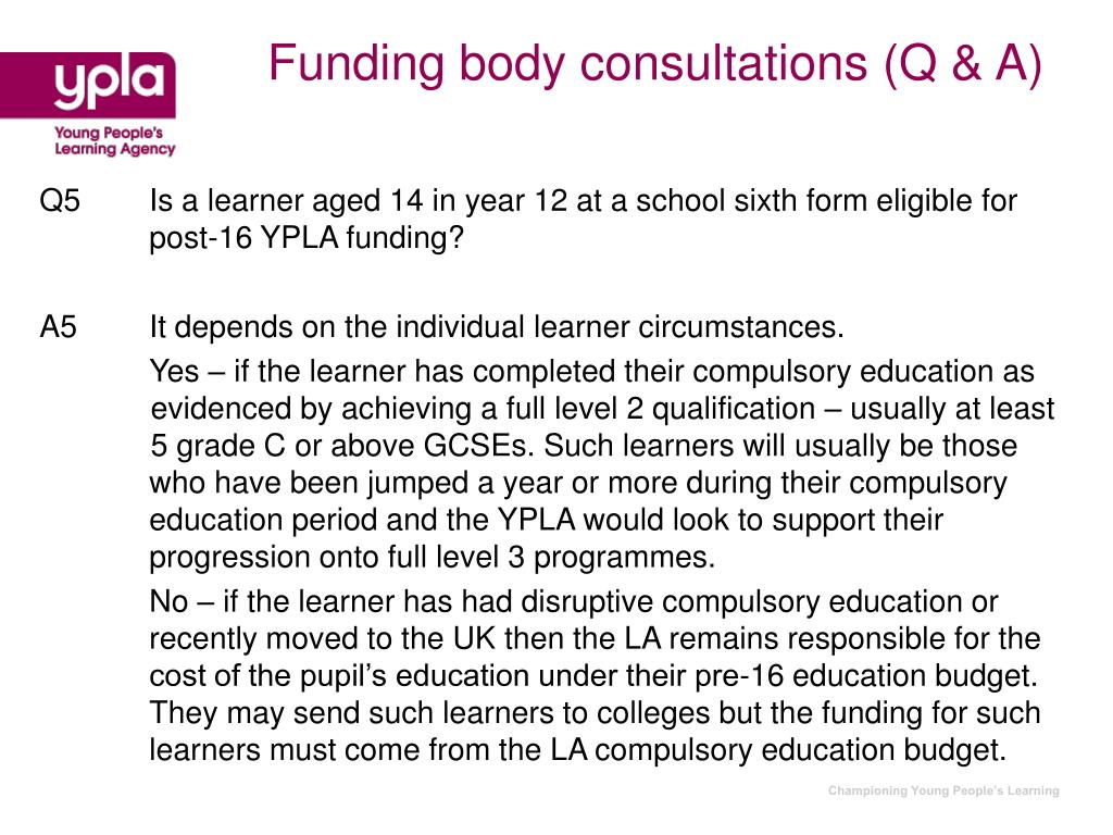 Funding body consultations (Q & A)