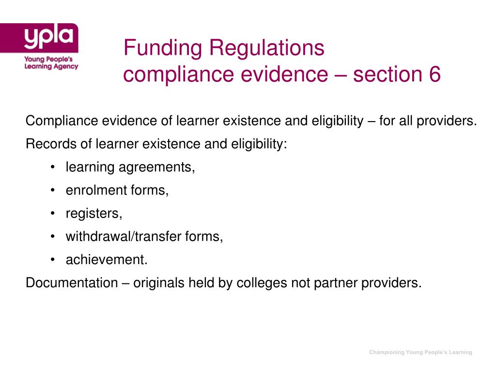 Funding Regulations