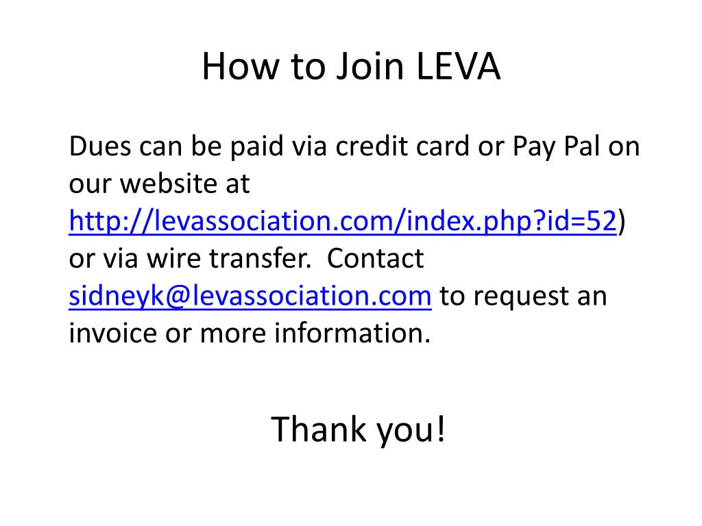 How to Join LEVA