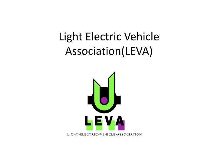 Light electric vehicle association leva
