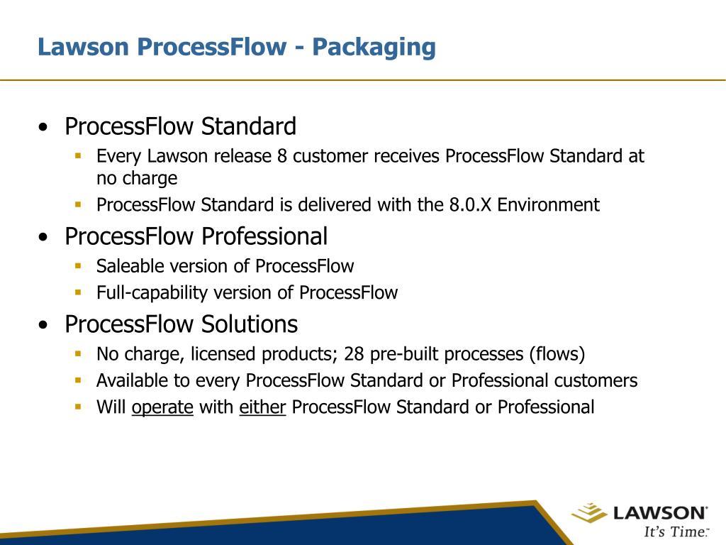 Lawson ProcessFlow - Packaging