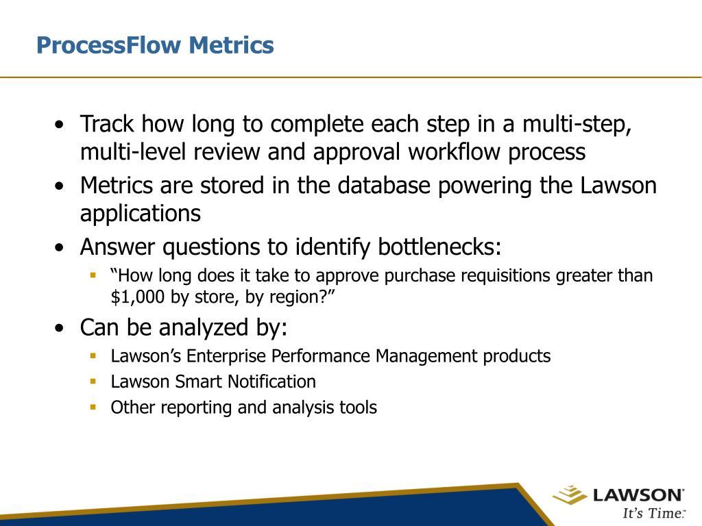 ProcessFlow Metrics