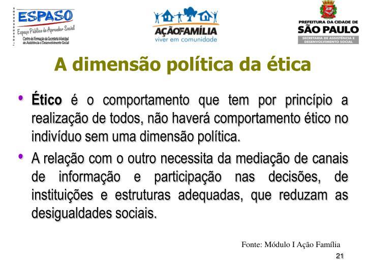 A dimensão política da ética