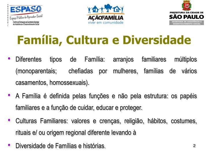 Família, Cultura e Diversidade