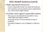 dol s madoff guidance cont d