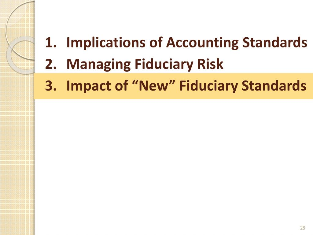 Implications of Accounting Standards