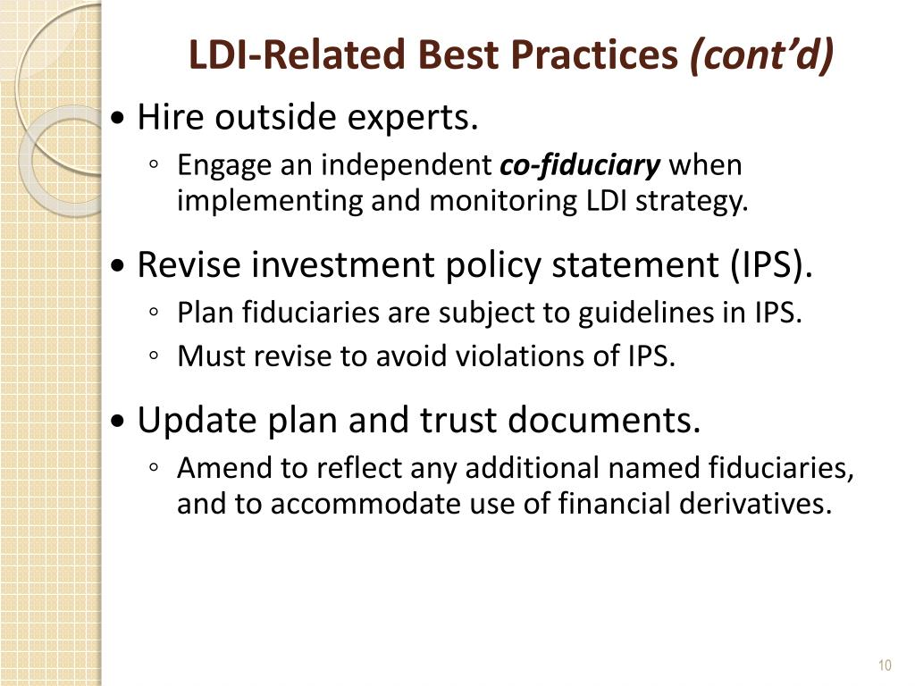 LDI-Related Best Practices