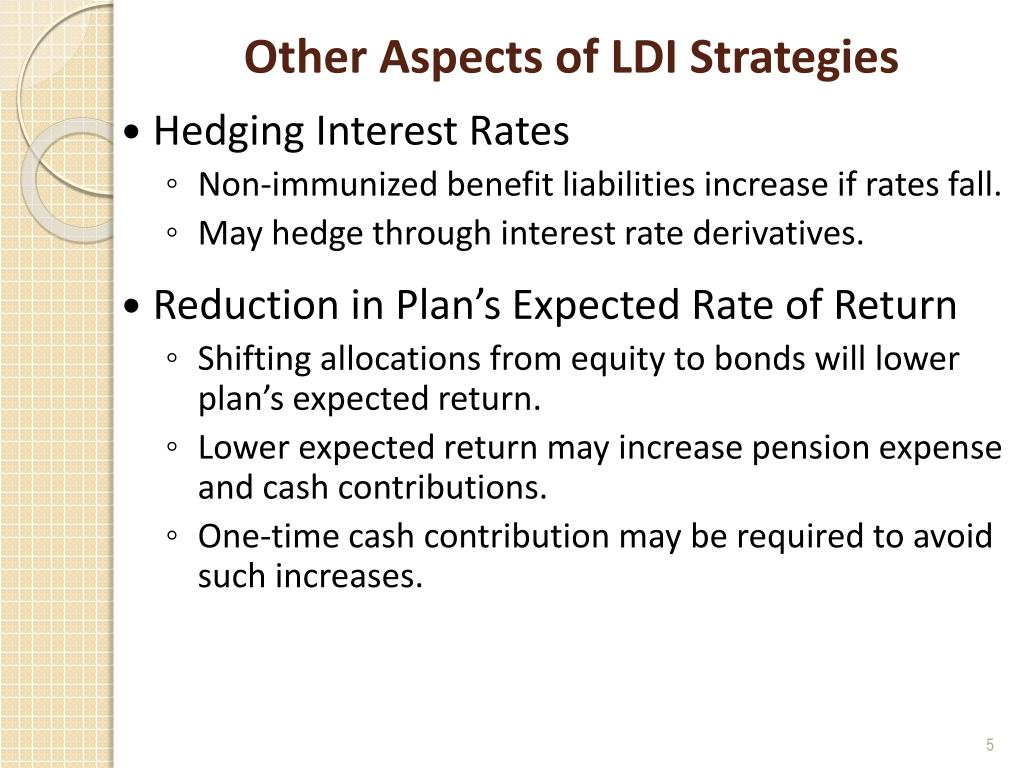 Other Aspects of LDI Strategies