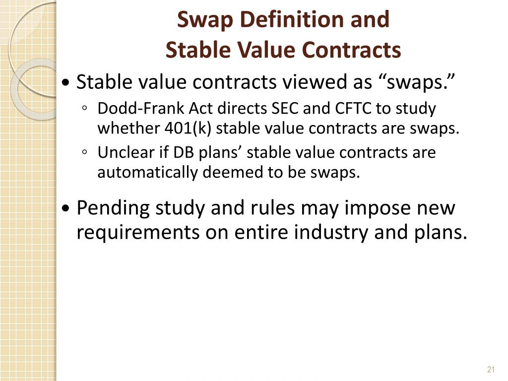 Swap Definition and