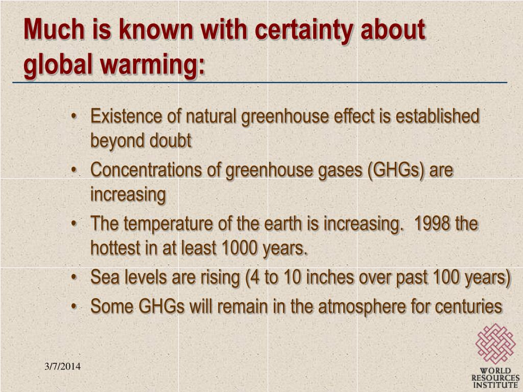 Much is known with certainty about global warming: