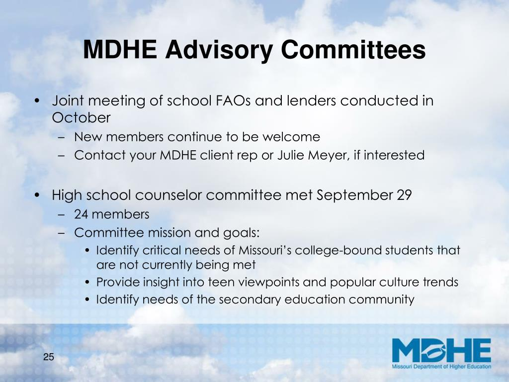 MDHE Advisory Committees
