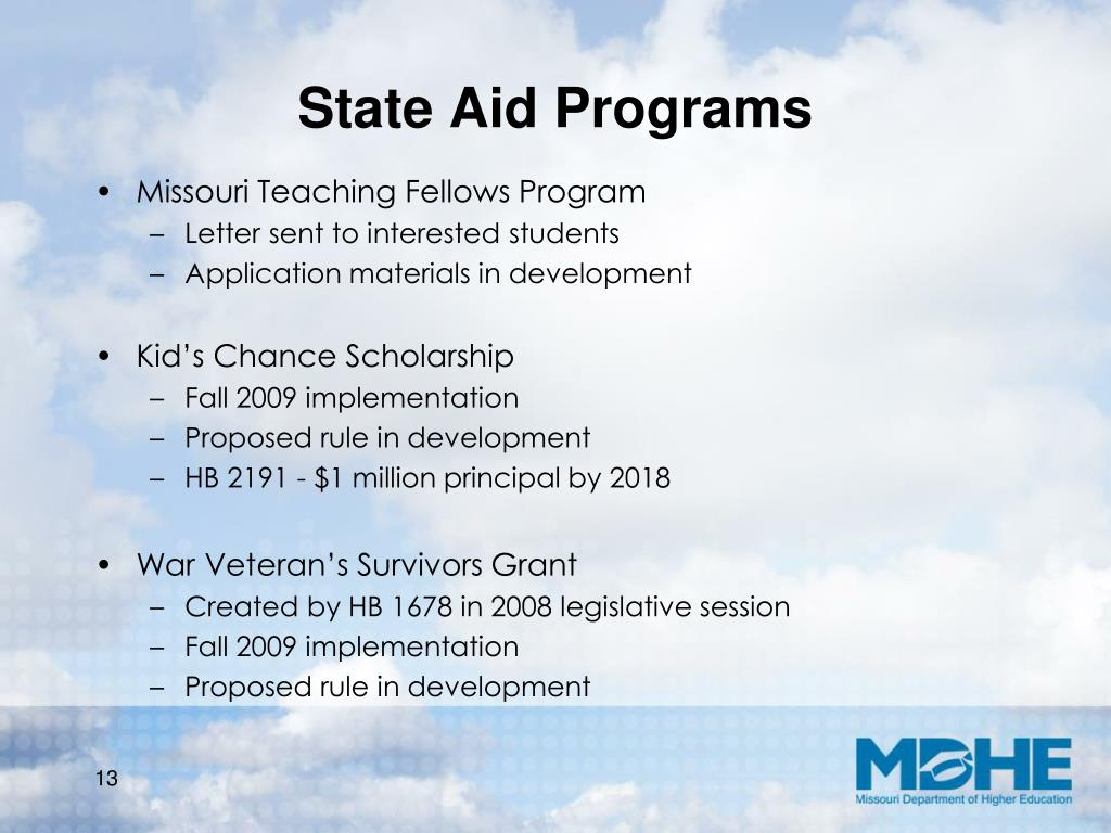 State Aid Programs