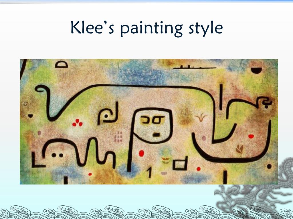 Klee's painting style