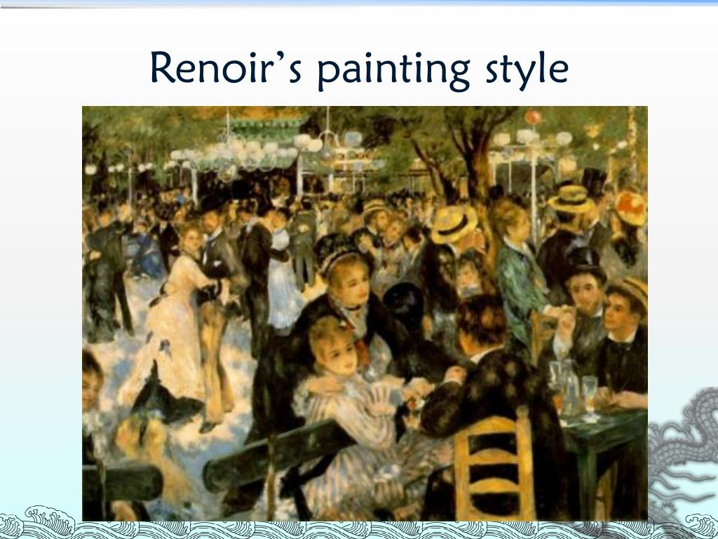 Renoir's painting style