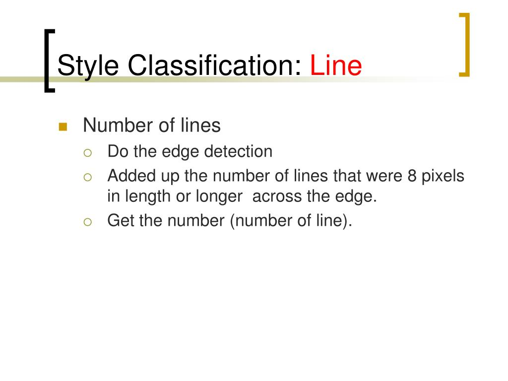 Style Classification: