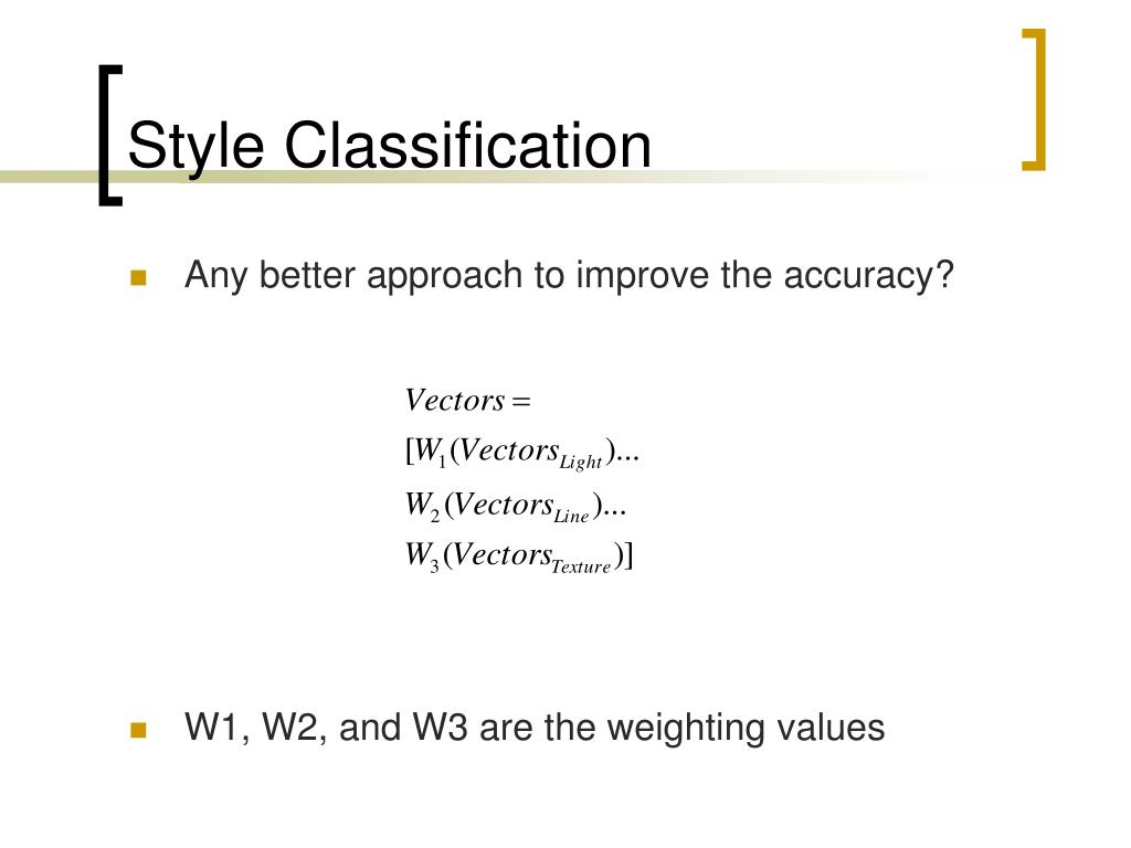 Style Classification