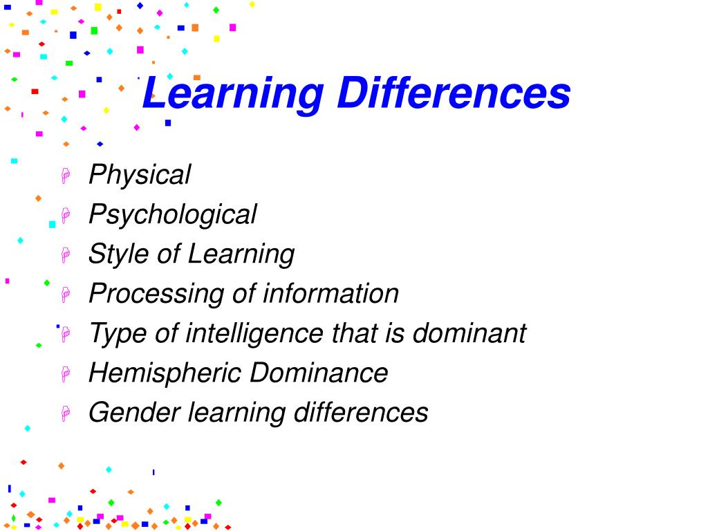 gender differences in learning styles Gender differences in the classroom  an example is cooperative learning   video categories: elementary, elementary education, learning styles, teen ,.