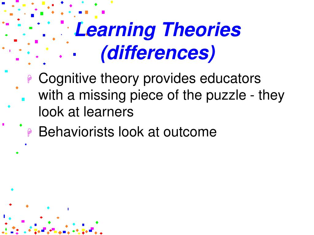 learning styles and theories We all learn in different ways learning theories explain how people learn and help us better understand complex processes a lot of research has been done in.