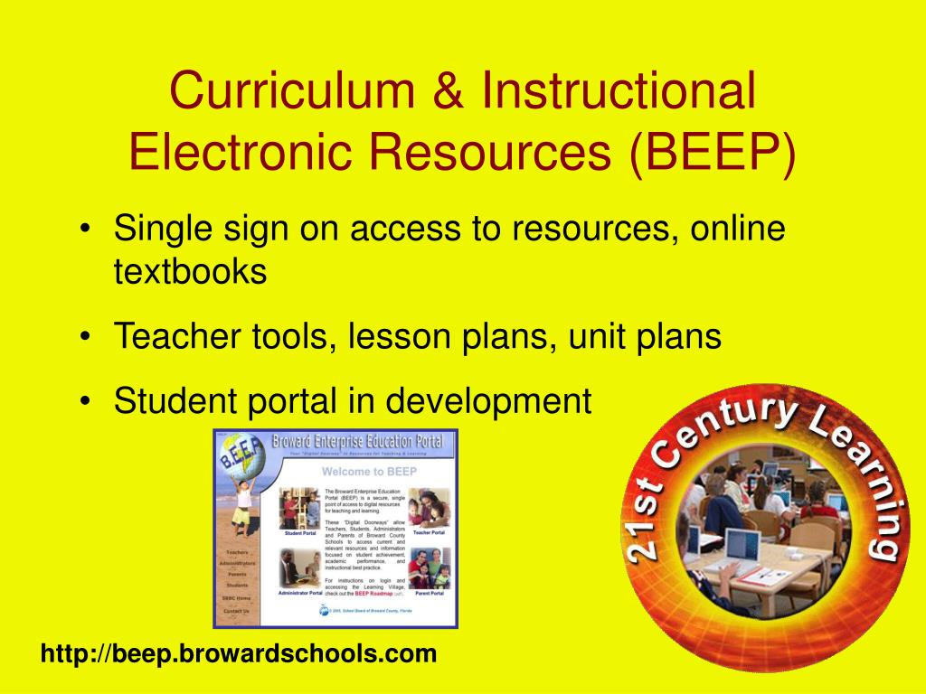 Curriculum & Instructional Electronic Resources (BEEP)